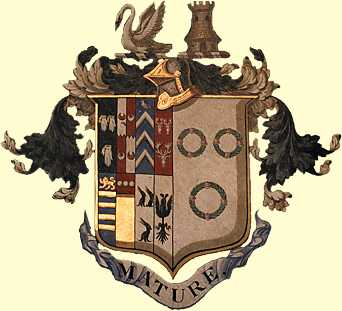 Bartlett Family - coat of arms tapestry